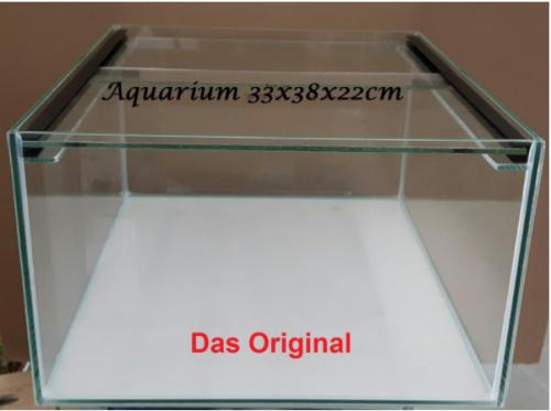 """Aquarium """"Kallax"""" 33x38x22 mit Abdeckscheibe"""